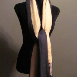 DKNY Peachy Pink/Gray Oversize Layered Scarf